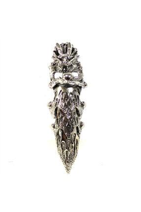 Modaroma Kral Uzun Gümüş Kaplama Şovalye Yüzük