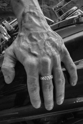 CAPO by Aytaç Yamaç Motorcu Tarzı Zincir 3 Ayarlanabilir Erkek Yüzük