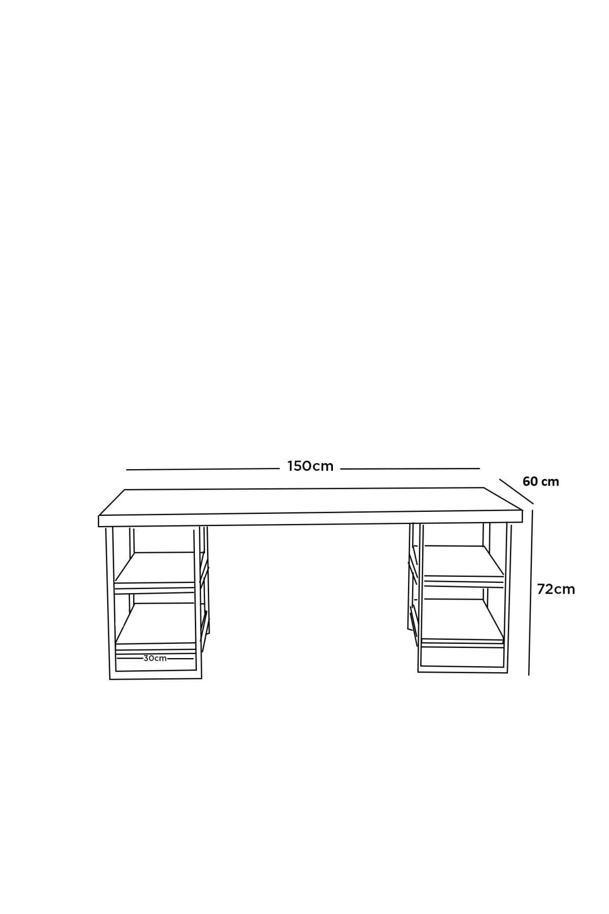 ADKPİETRO Adk1810 Peter Çalışma Masası + Sandalye Siyah 2