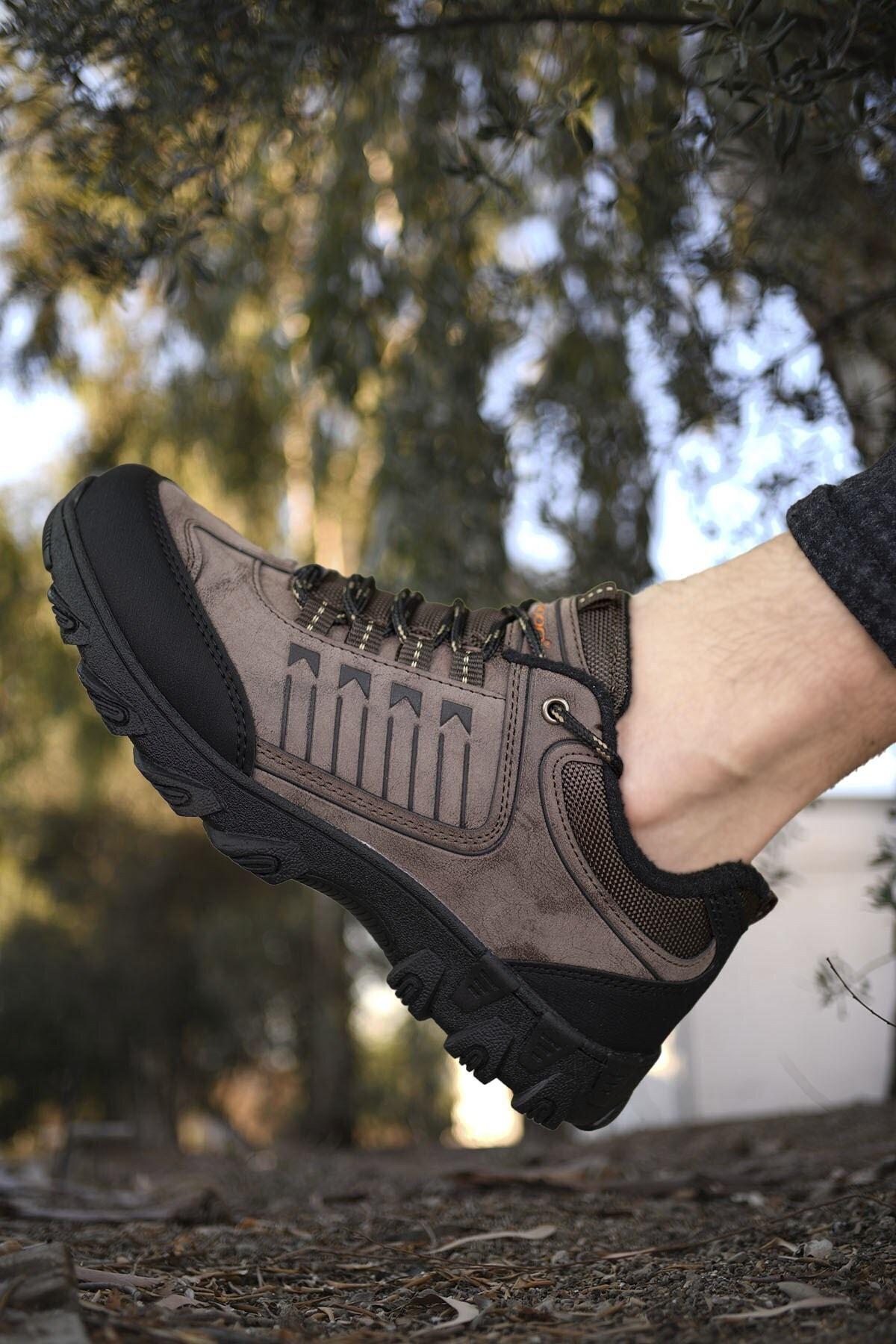 Riccon Kahverengi Siyah Erkek Trekking Ayakkabı 00121180 1