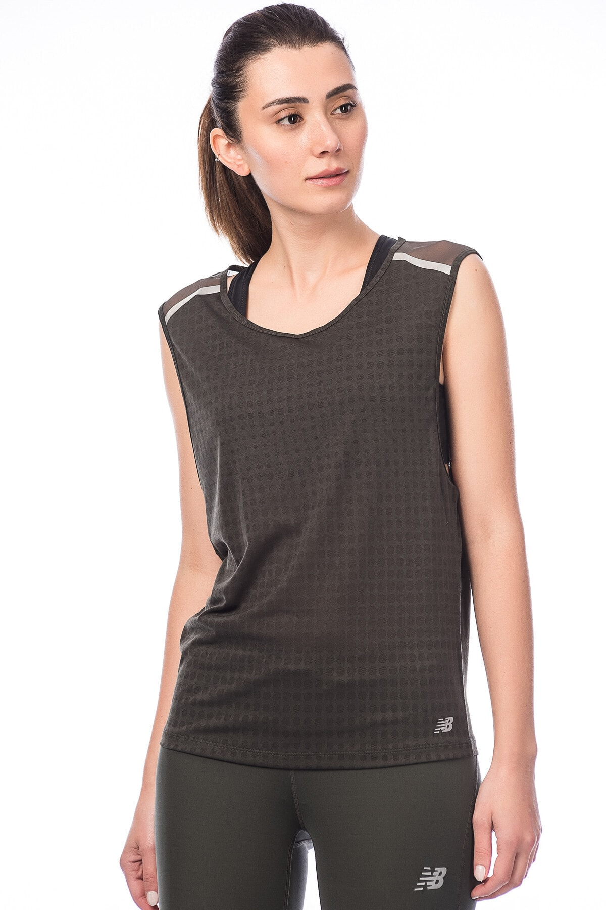 New Balance WT71209 Kadın Yeşil T-Shirt - WT71209-FCG 2