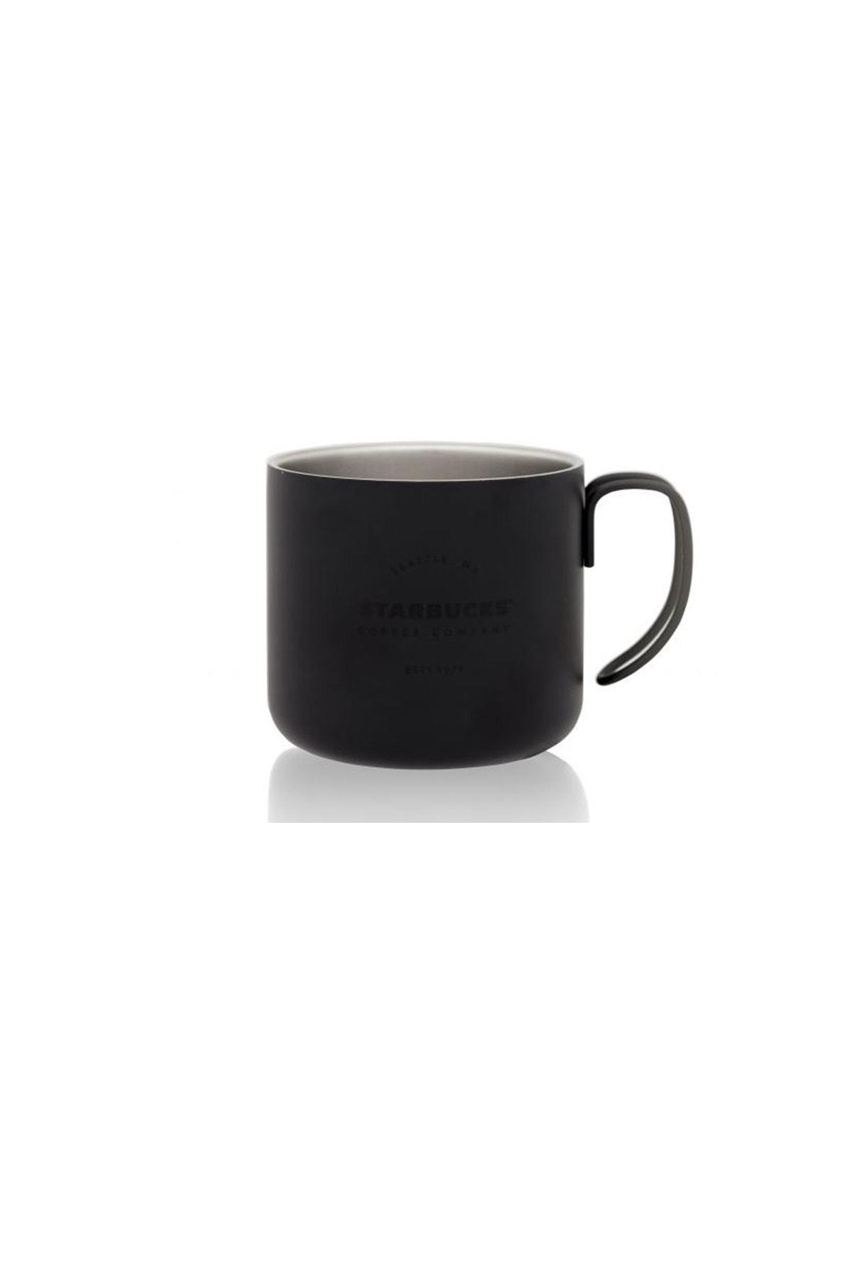 Starbucks Siyah Metal Bardak Kupa Mug 1