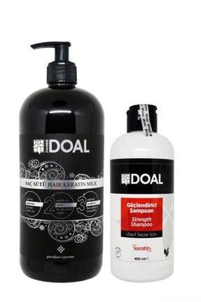 DOAL Keratin Bakım Sütü 1000 ml + Zayıf Saçlar Için Güçlendirici Keratin Şampuanı 400 ml