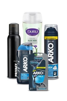 Duru Arko Men Tıraş Seti Privacy Deodorant 150ml Ve Micellar Aloevera Duş Jeli 450 ml
