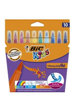 Bic Vısa Fırça Uçlu Keçeli Kalem ,10 Lu Kutu