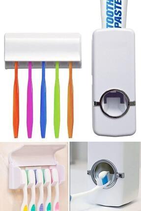 Arsimo Diş Macunu Sıkacağı Diş Fırçalığı 5 Adet Diş Fırçası Tutuculu
