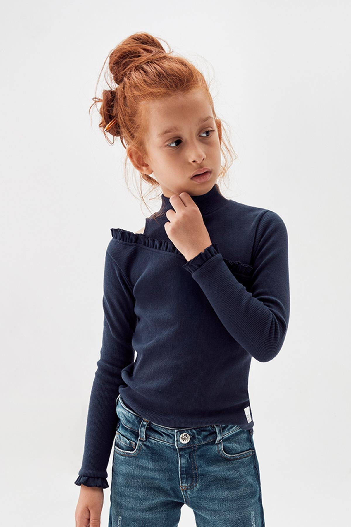 Tyess Kız Çocuk Lacivert T-shirt 20fw0tj4512 1