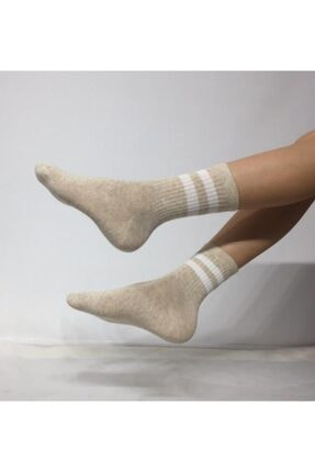 ADEL ÇORAP Kokulu Unisex Çizgi Desenli Kolej Çorap