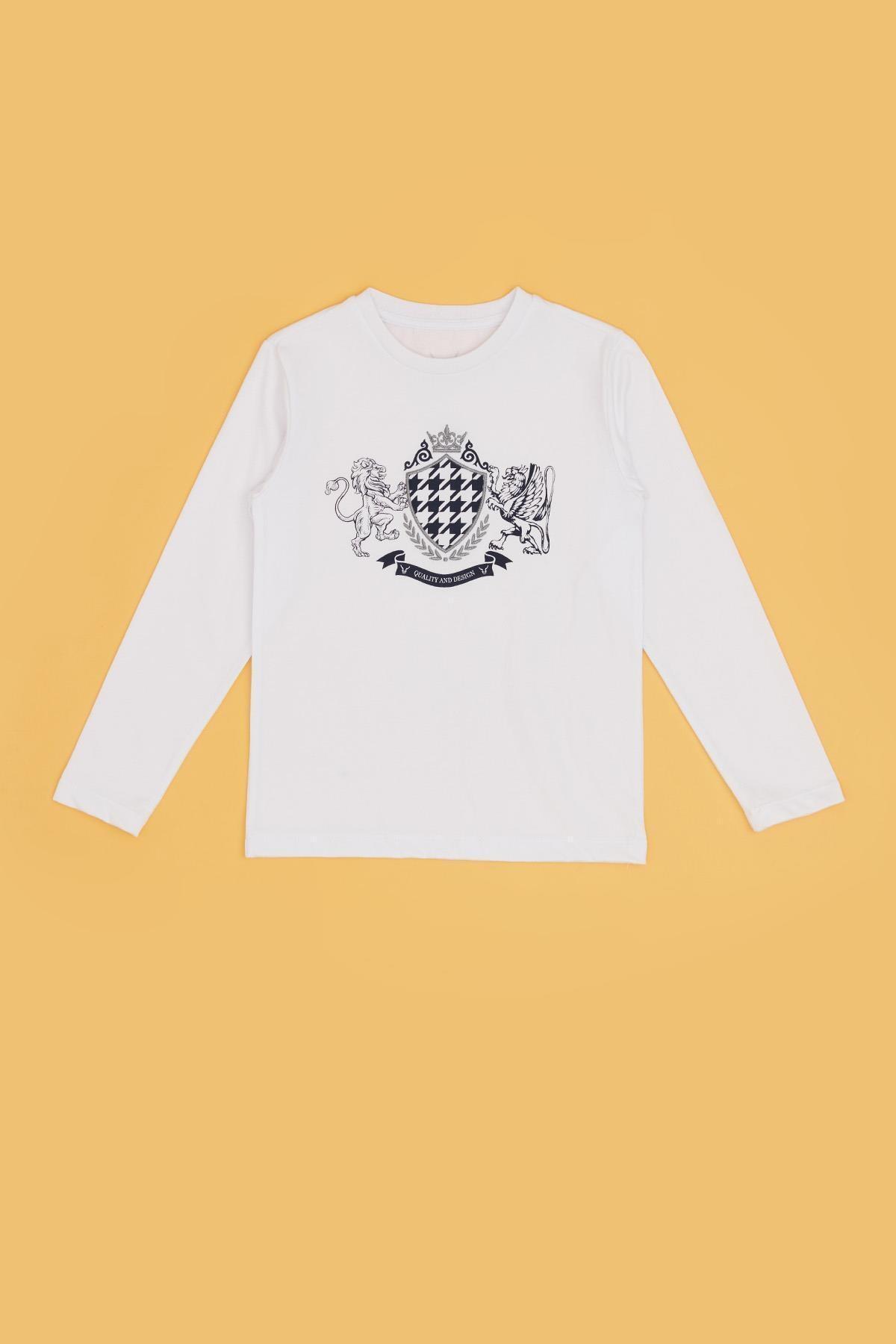 Nebbati Erkek Çocuk Beyaz T-shirt 20fw0nb3523 1