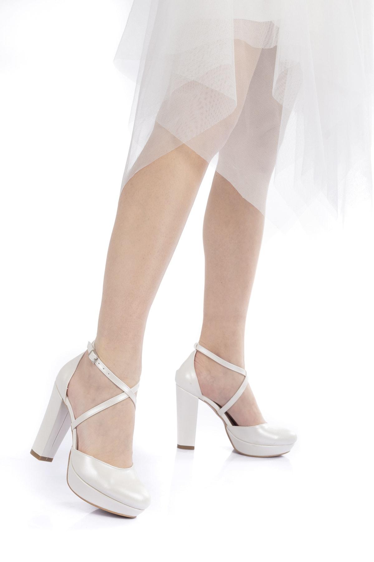 Çnr&Dvs Sedef Cilt Kadın Abiye Ayakkabı 2010cnr 1