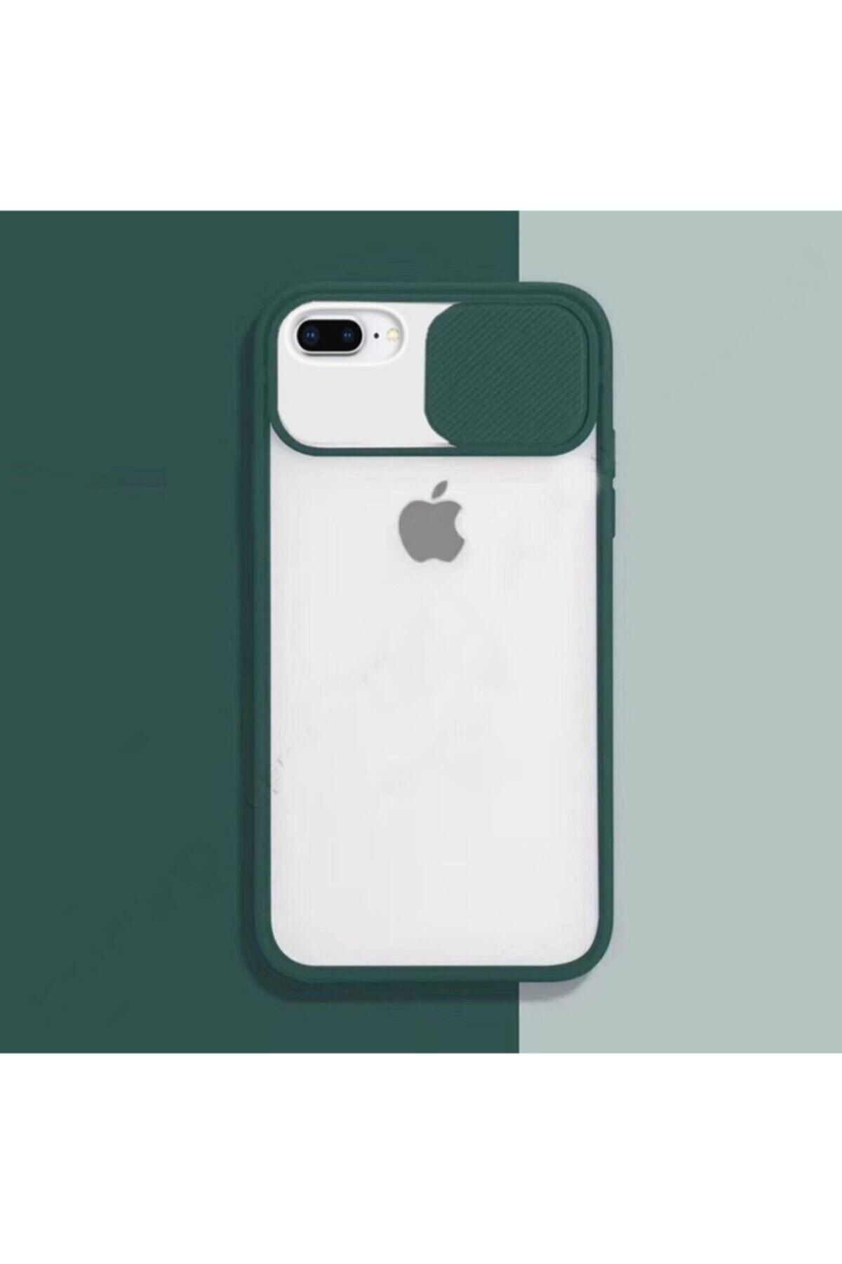zore Iphone 7 Plus - 8 Plus Sürgülü Kamera Korumalı Silikon Kılıf 1