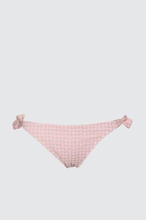 TRENDYOLMİLLA Pembe Dokulu Bağlamalı Bikini Altı TBESS21BA0098