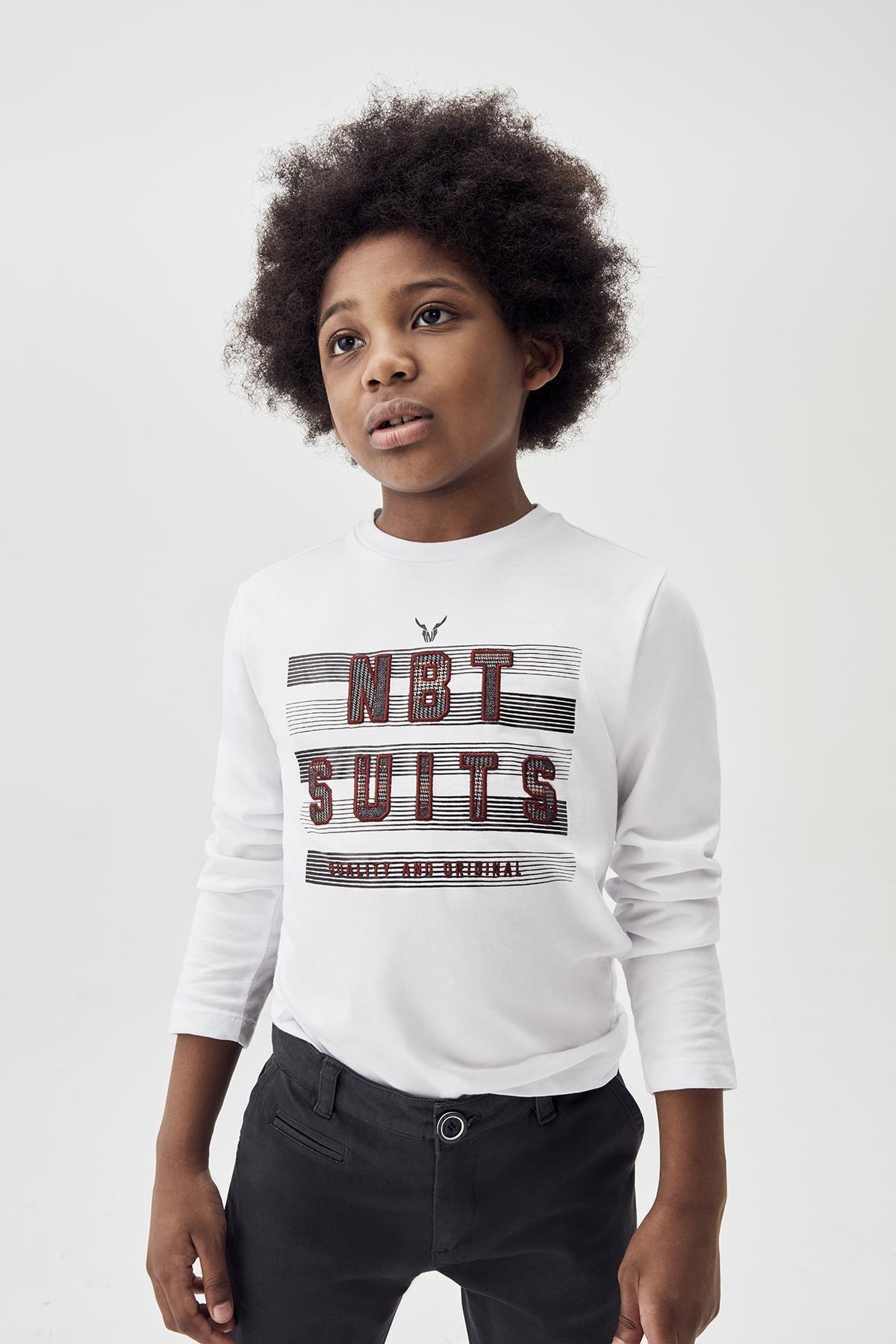Nebbati Erkek Çocuk Ekru T-shirt 20fw0nb3522 1