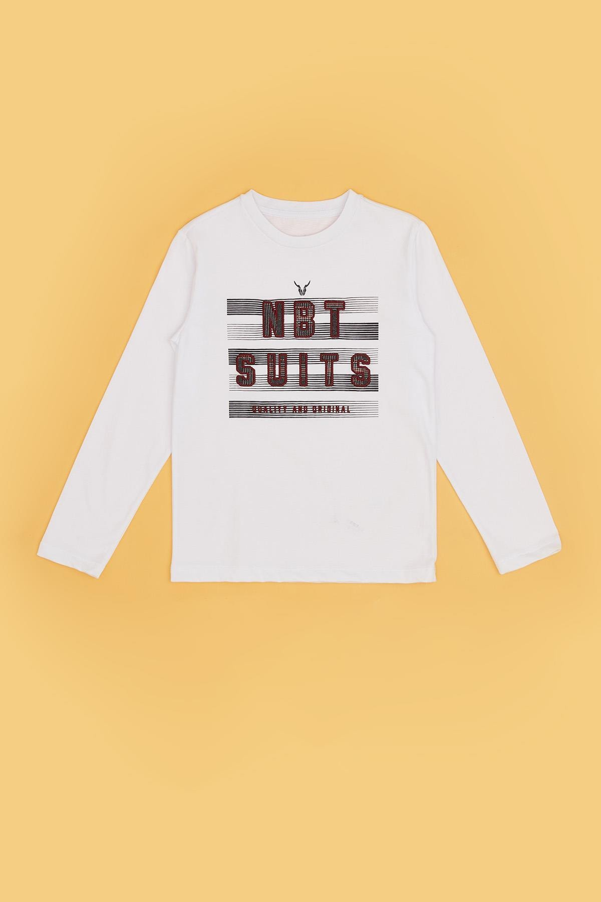 Nebbati Erkek Çocuk Ekru T-shirt 20fw0nb3522 2