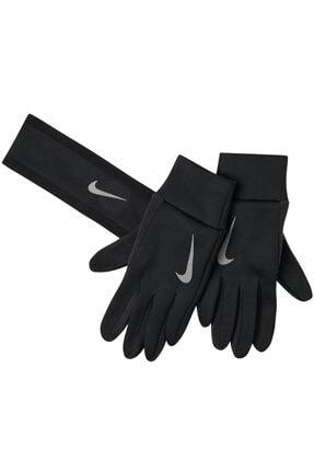 Nike Run Thermal Kadın Siyah Kafa Bandı Ve Eldiven Takımı N.rc.35.045.2s