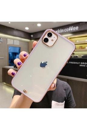 mooodcase Iphone 11 Premium Electrolize Silikonlu Lila Telefon Kılıfı