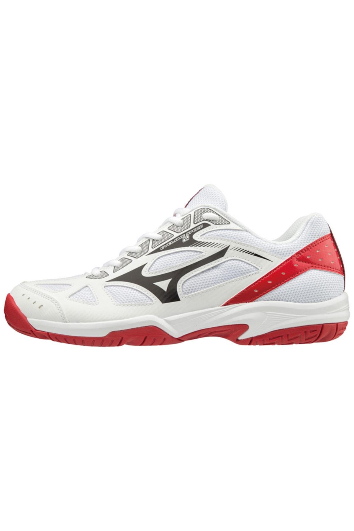 MIZUNO Cyclone Speed 2 Unisex Voleybol Ayakkabısı Beyaz / Kırmızı 1