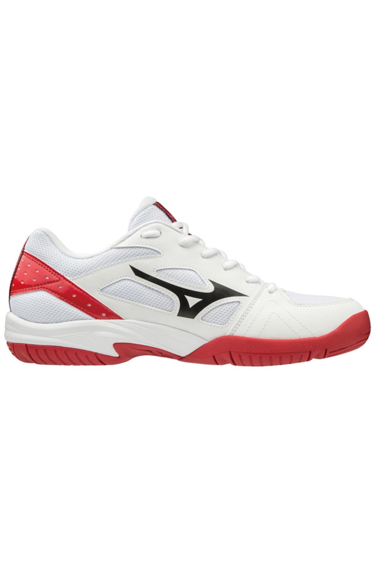 MIZUNO Cyclone Speed 2 Unisex Voleybol Ayakkabısı Beyaz / Kırmızı 2
