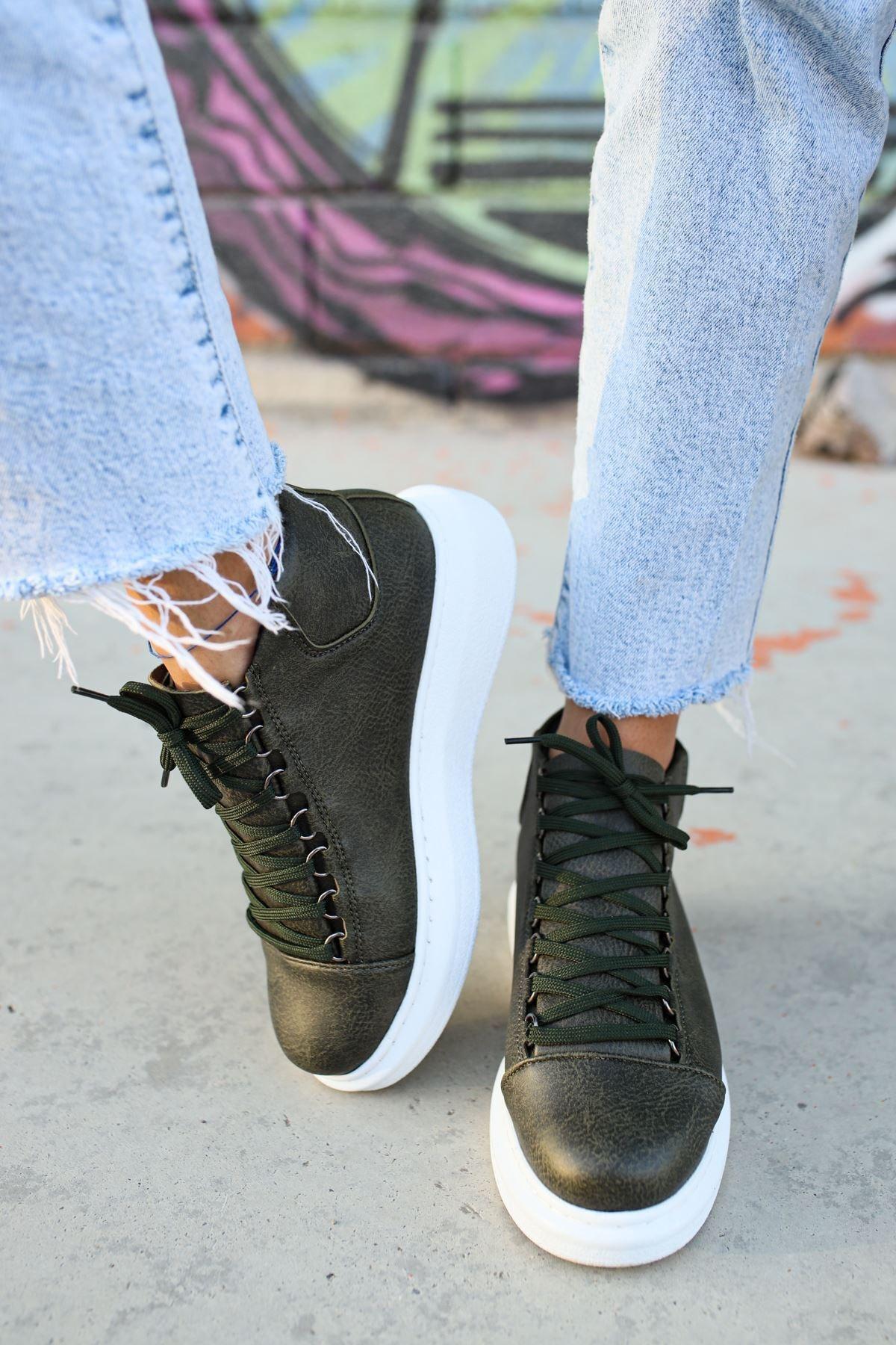 Chekich Kadın  Haki Ch258 Bt Sneaker 2