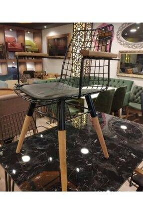 MSA Ahşap Ayaklı Kolçaklı Tel Sandalye