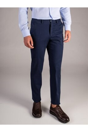 Dufy A.lacivert Düz Erkek Pantolon - Regular Fıt