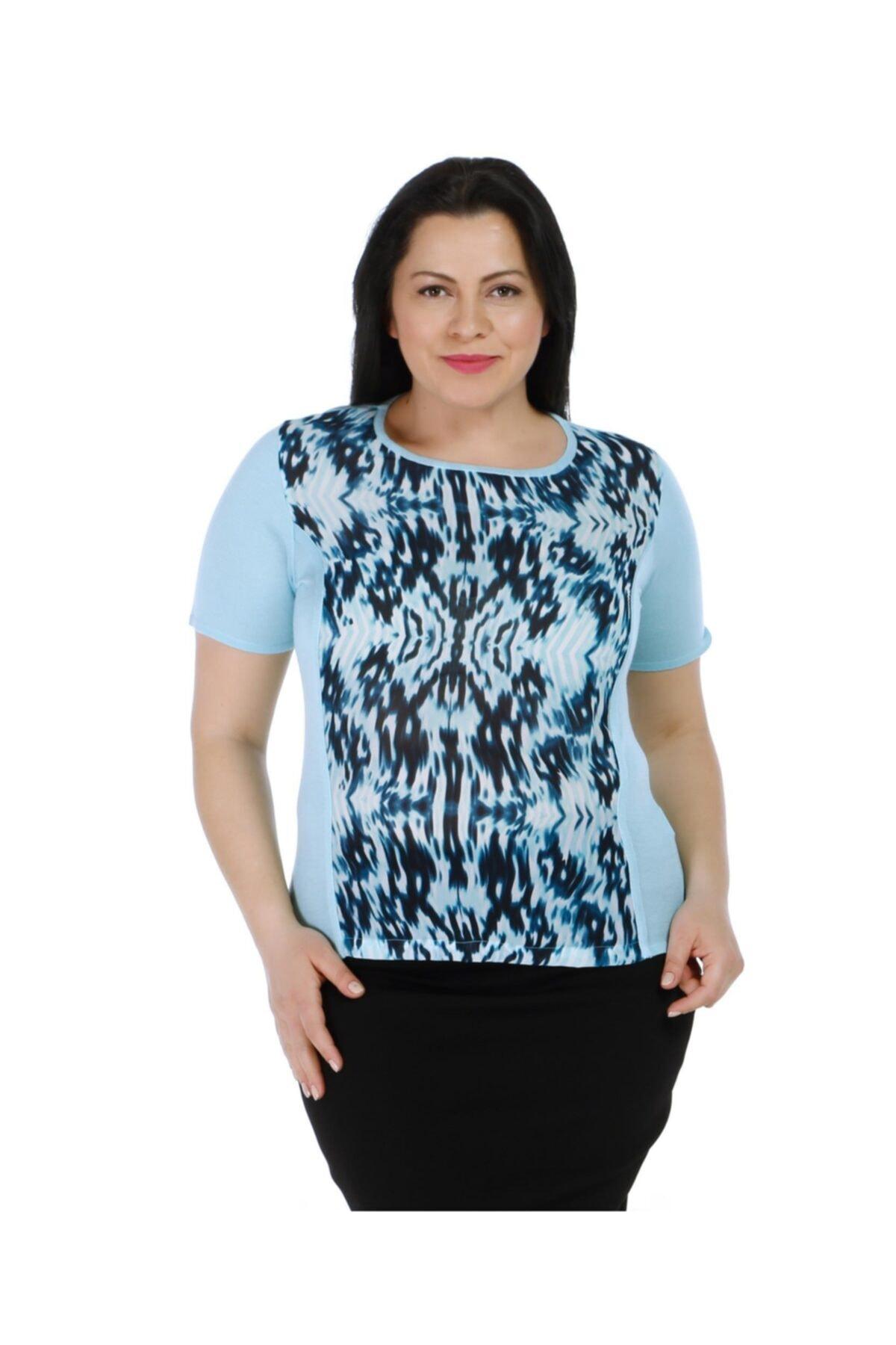 Solo Dalgalı Desenli Bluz 1