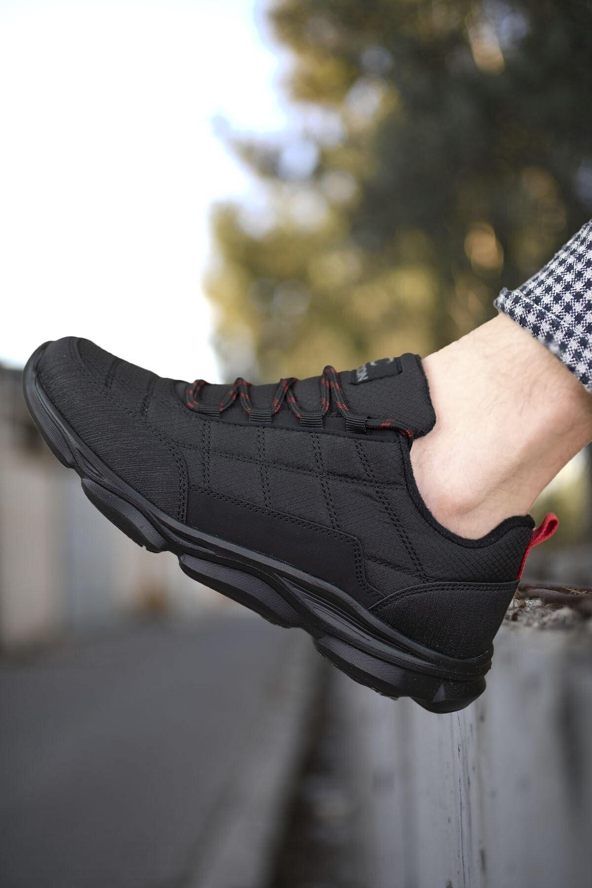 Riccon Siyah Kırmızı Erkek Sneaker 00121310 1