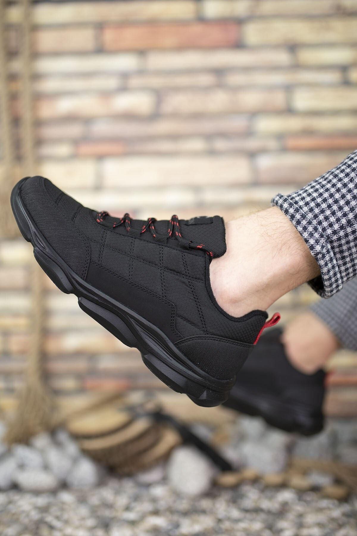 Riccon Siyah Kırmızı Erkek Sneaker 00121310 2