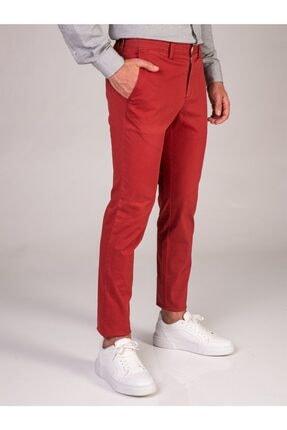 Dufy Nar Çiçeği Düz Erkek Pantolon - Slimfit