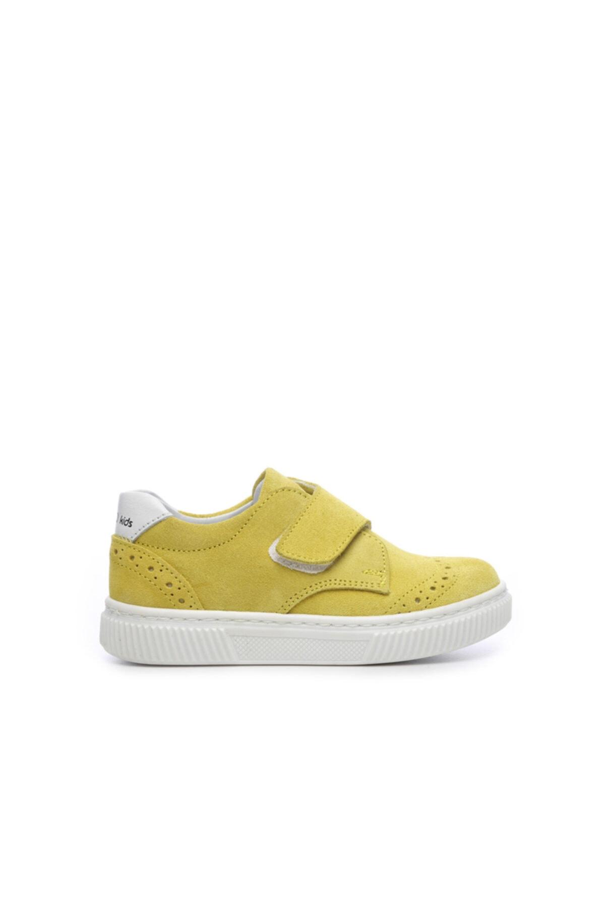 KEMAL TANCA Unisex Çocuk Sarı  Derı Çocuk Ayakkabı Ayakkabı 407 2028 Cck 21-30 Y19 1