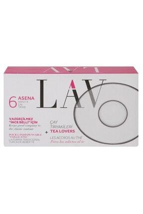 LAV Asena 6lıx2 12 Adet Çay Tabağı