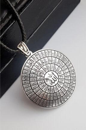 Gümüş Pazarım Esma Ül Hüsna ( Allah'ın 99 Ismi ) Gümüş Erkek Kolyesi