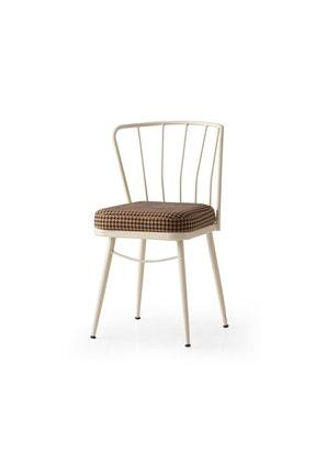 Weltew Home Gupba Sandalye Ekru-kahve (4 Adet)
