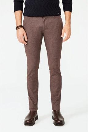 Avva Erkek Kahve Yandan Cepli Flanel Slim Fit Pantolon A02y3042