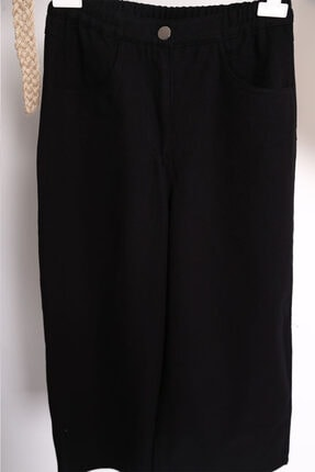 Loreen Bol Paça Denim Pantolon - Siyah