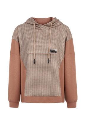 Nocturne Ekose Örme Karışımlı Sweatshirt