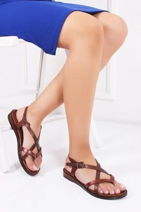 Deripabuc Hakiki Deri Twinkle-3 Kadın Deri Sandalet Dp-0071