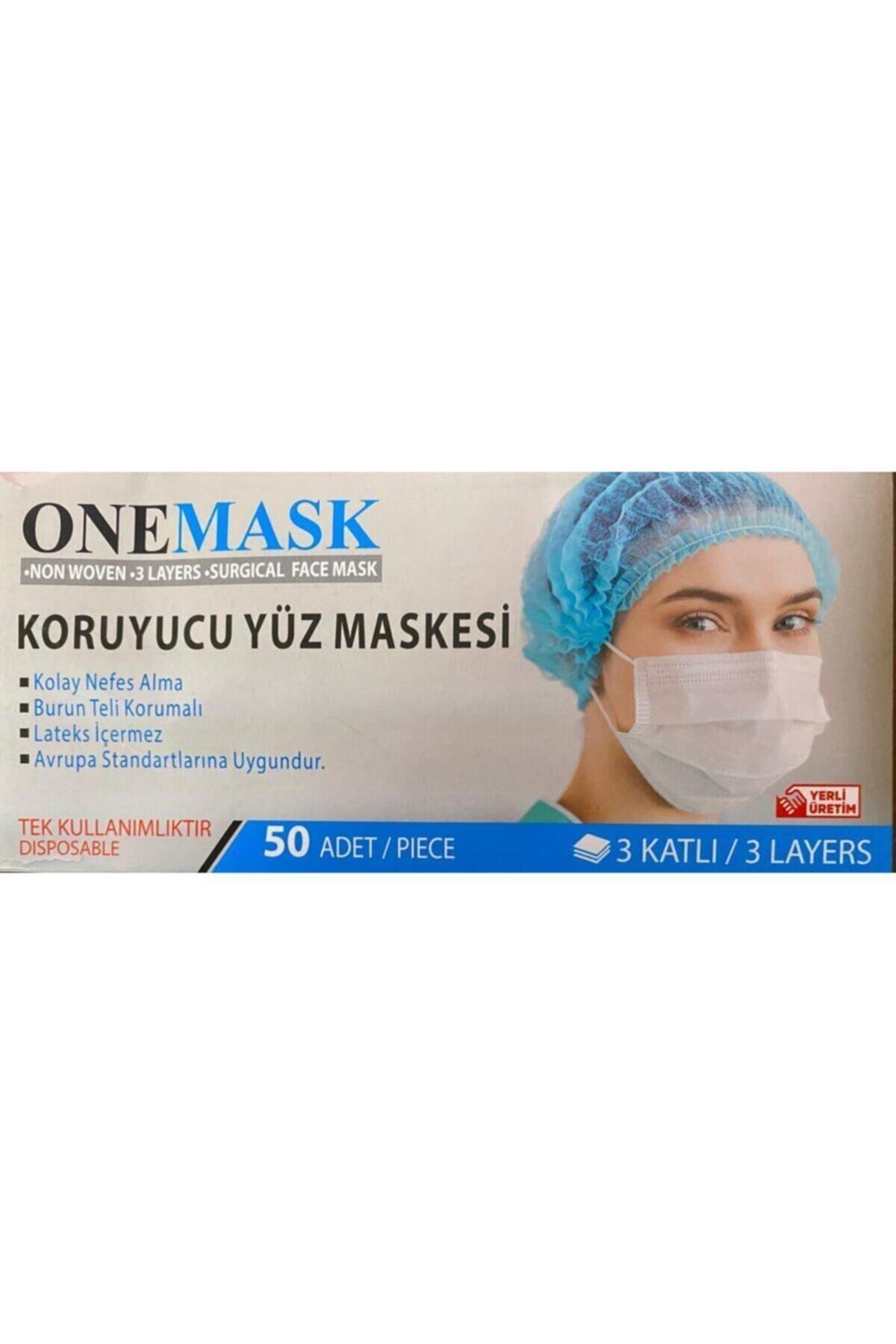 MASKE Onemask 3 Katlı Burun Telli Koruyucu Yüz Si 1