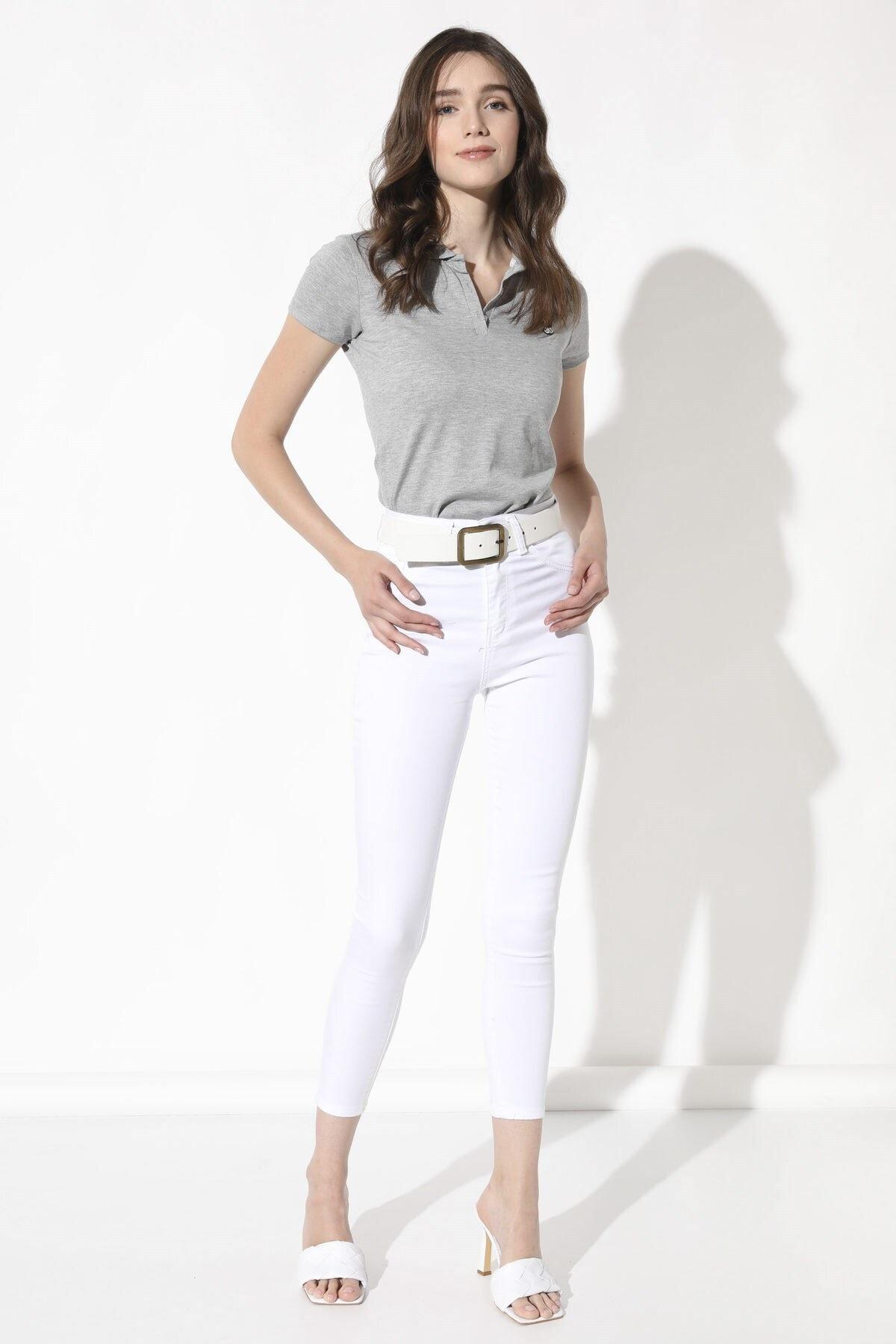 Arma Life Yüksek Bel Likralı Pantolon - Beyaz 1