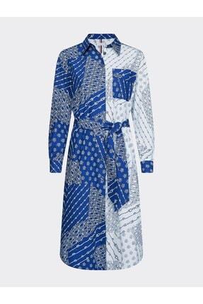 Tommy Hilfiger Mıllıe Prt Shırt Dress Ls