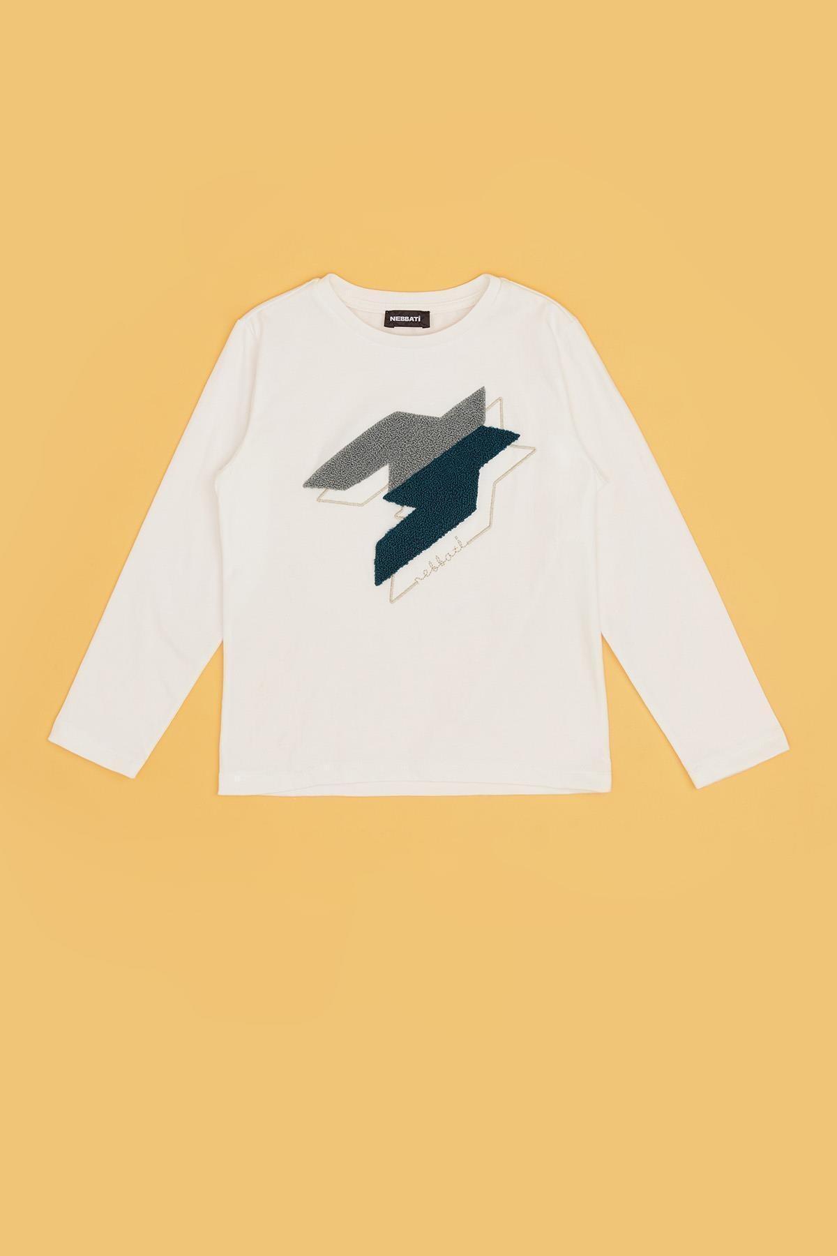Nebbati Erkek Çocuk Beyaz T-shirt 20fw0nb3520 2