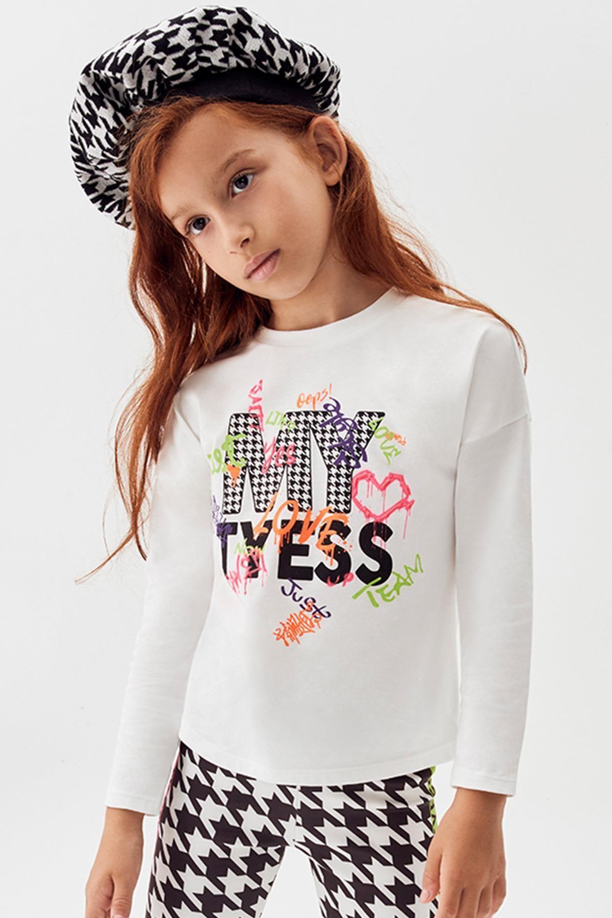 Tyess Kız Çocuk Beyaz T-shirt 20fw0tj4507 1