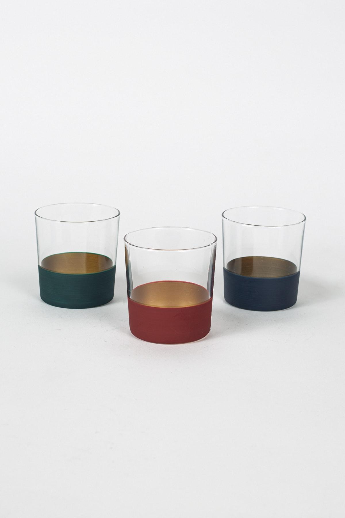 Rakle Alfa 3'lü Su Bardağı Seti 380 Cc 1