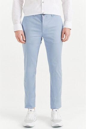 Avva Erkek Gök Mavisi Yandan Cepli Basic Slim Fit Pantolon A01y3042