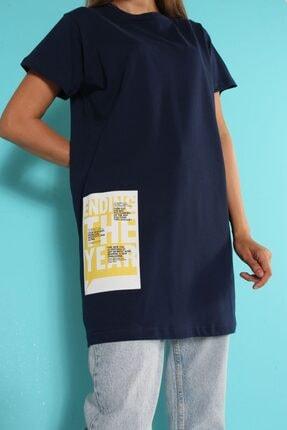 ALLDAY Lacivert Kısa Kol Baskılı T-shirt