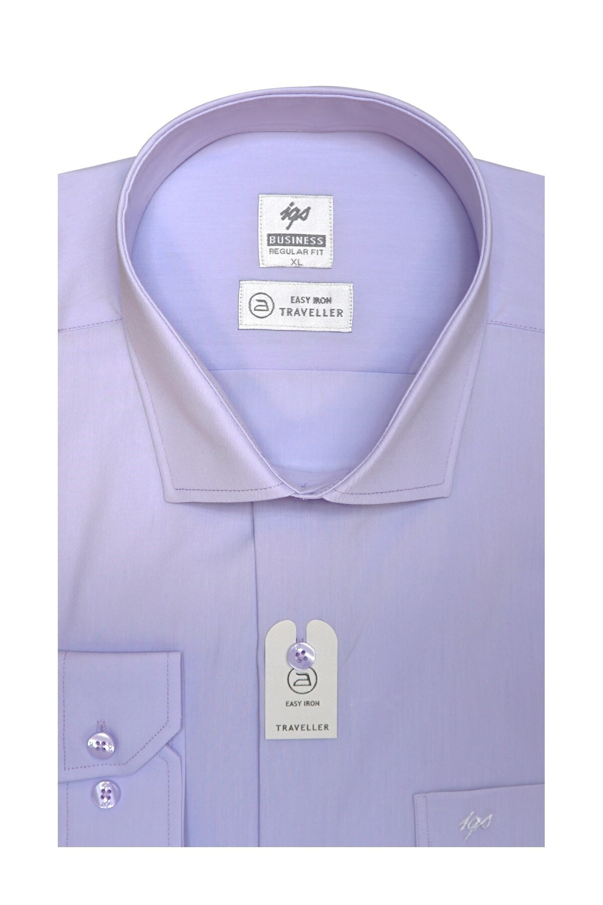 İgs Erkek Lila Regularfıt / Rahat Kalıp 7 Cm Klasik Gömlek 2