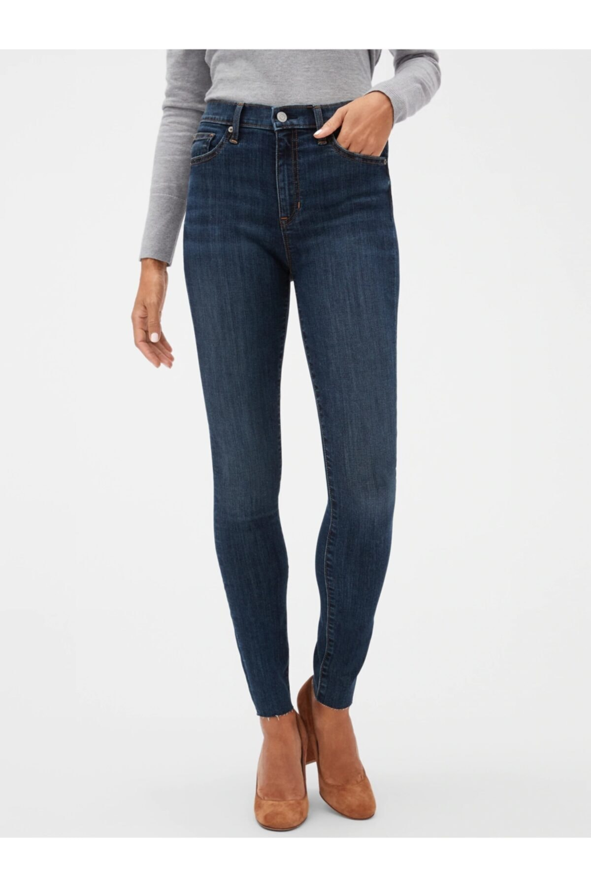 GAP High Rise Legging Jean Pantolon 1