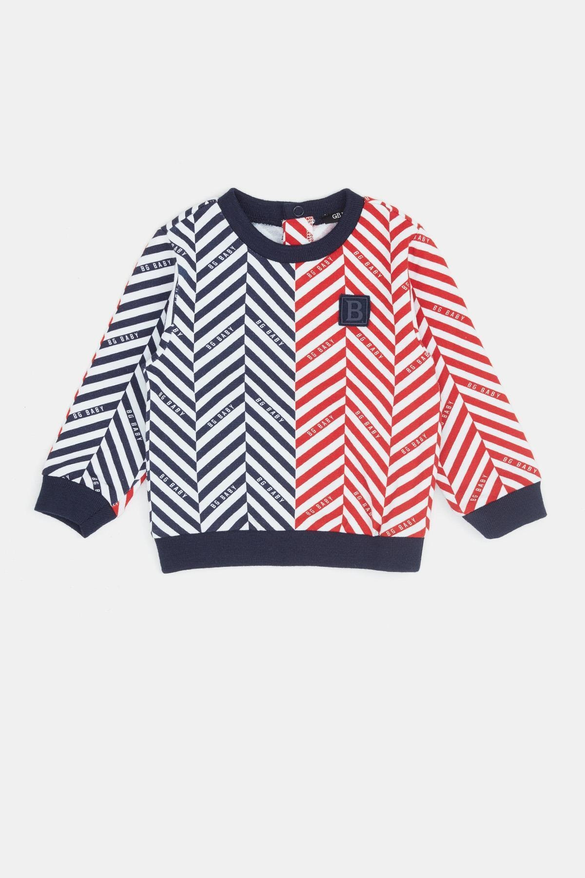 BG Baby Erkek Bebek Desenli S-shirt 20fw0bg1431 1