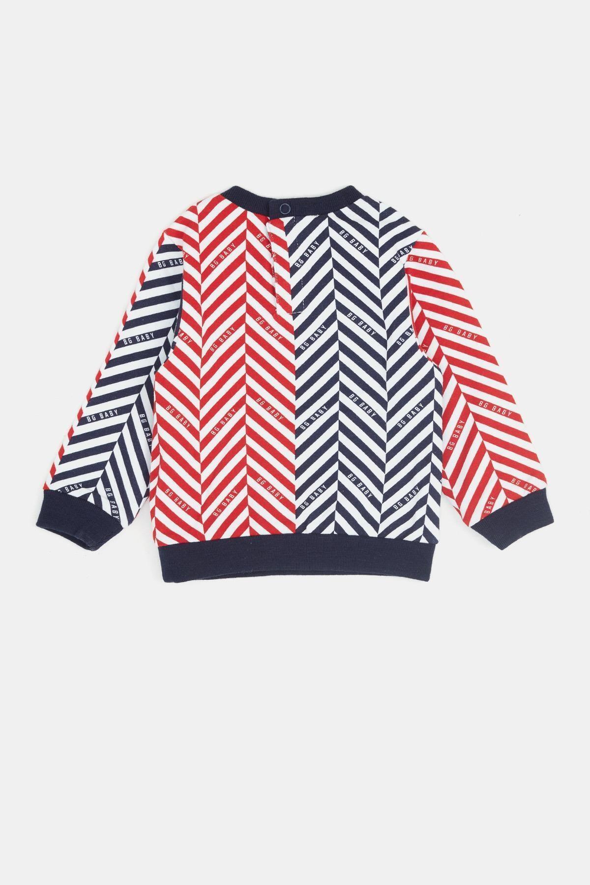 BG Baby Erkek Bebek Desenli S-shirt 20fw0bg1431 2