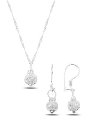 Söğütlü Silver Gümüş Beyaz Kazaziye Top Modeli Ikili Set